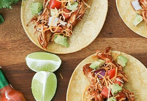 Instant pot Salsa Chicken Tacos Recipe